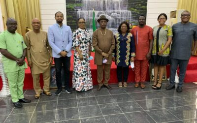 ANAMBRA STATE SMALL BUSINESS AGENCY (ASBA) MANAGEMENT Hosted the Federal Government NG CARES Technical Team and The State CARES Coordinating Unit (SCCU) At It's Agency.